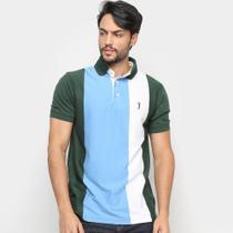 Camisas Polo Aleatory Listrada Fio Tinto Masculina -