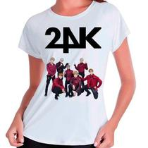 Camiseta 24k Kpop Integrantes Babylook Branca - Eanime