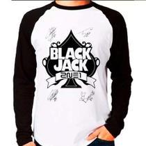 Camiseta 2ne1 Blackjack Autografos Kpop Raglan Manga Longa - Eanime
