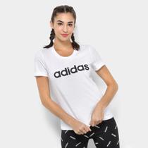 Camiseta Adidas Estampa Logo Slim Feminina -