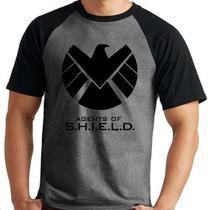 Camiseta Agents Of Shield  Série Raglan Mescla Curta - Eanime