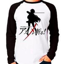 Camiseta Akama Ga Kill Anime Raglan Manga Longa - Eanime