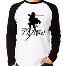 Camiseta Anime Akama Ga Kill Raglan Longa - Eanime