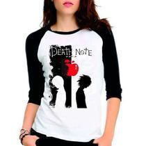 Camiseta Anime Death Note V02 Raglan Babylook 3/4 - Eanime