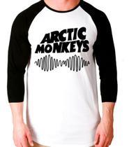 Camiseta Arctic Monkey Banda Raglan Manga 3/4 Unissex - EANIME