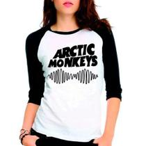 Camiseta Arctic Monkeys Rock Raglan Babylook 3/4 - Eanime