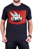 Camiseta Audioslave Logo Banda Manga Curta - Bandalheira