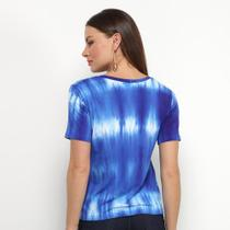 Camiseta Aura Tie Dye Gola V Feminina -