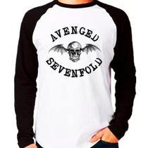 Camiseta Avenged Sevenfold Rock Raglan Manga Longa - Eanime