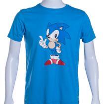 Camiseta Azul Sonic The HedgehogT Classic Pose - Tectoy