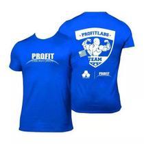 Camiseta Azul Treino Musculação Dry Fit - Pro Fit Labs - Profit Laboratório