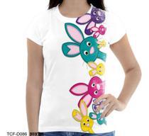 Camiseta Baby Coelhinho Coelho Fofo Bichinhos Pascoa A - Dias no Estilo