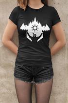 Camiseta Baby Look Dark Souls Feminino Preto - Mikonos