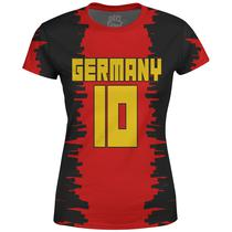 Camiseta Baby Look Feminina Alemanha Germany md01 - Over fame