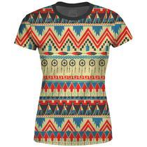 Camiseta Baby Look Feminina Étnica Tribal Africana Md07 - Over Fame