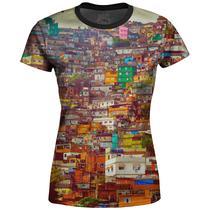 Camiseta Baby Look Feminina Favela Estampa Digital md01 - Over Fame