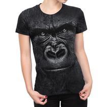 Camiseta Baby Look Feminina Gorila Estampa Total - Over Fame