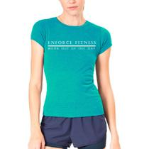 Camiseta Baby Look  Feminina WOD  - Enforce Fitness-G-Azul Claro