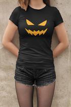 Camiseta Baby Look Halloween Feminino Preto - Mikonos
