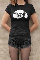 Camiseta Baby Look Mortos Vivos Zumbi Feminino Preto - Mikonos
