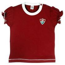 Camiseta baby look revedor fluminense cores clube menina grená -