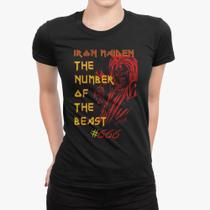Camiseta Babylook - Iron Maiden The Number of the Beast - Snap way