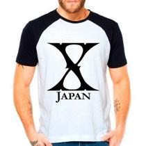 Camiseta Banda X Japan Xjapan Jrock Raglan Manga Curta - Eanime