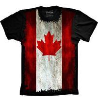 Camiseta Bandeira Do Canadá - Camisetas 4Fun