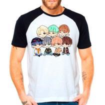 Camiseta Bangtan Boys Bts Babys Cute Kpop Raglan Manga Curta - Eanime