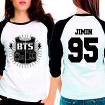 Camiseta Bangtan Boys Bts Jimin 95 Raglan Babylook 3/4 - Eanime