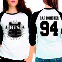 Camiseta Bangtan Boys Bts Rap Monster 94 Raglan Babylook 3/4 - Eanime