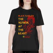 Camiseta Básica Feminina - Iron Maiden The Number of the Beast - Snap way