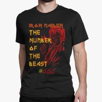 Camiseta Básica Masculina - Iron Maiden The Number of the Beast - Snap way