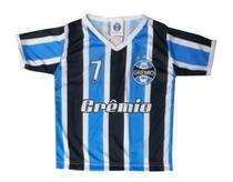 Camiseta Bebê Grêmio Listrada Dry Gola V Oficial - Bebê Brasileiro