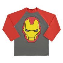 Camiseta Bebê Marlan Proteção UV Marvel Vingadores Masculina -