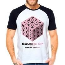 Camiseta Black Pink Square Up Ddu-du Kpop Raglan Manga Curta - Eanime
