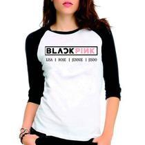Camiseta Blackpink Lisa Rose Jennie Jiso Raglan Babylook 3/4 - Eanime