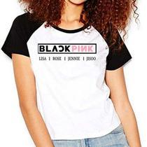 Camiseta Blackpink Lisa Rose Jennie Jisoo Raglan Babylook - Eanime