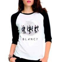 Camiseta Blanc7 Blanc 7 Integrantes Kpop Raglan Babylook 3/4 - Eanime