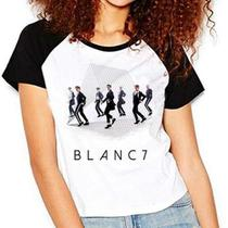 Camiseta Blanc7 Blanc 7 Integrantes Kpop Raglan Babylook - Eanime