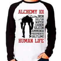 Camiseta Blusa Fullmetal Alchemist Ed E Al Human Life Longa - Eanime
