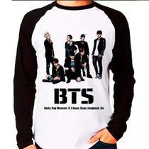 Camiseta Blusa Raglan Longa Kpop Bangtan Boys Bts Team - Eanime