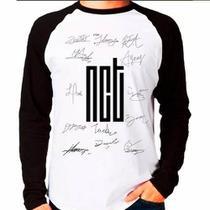 Camiseta Blusa Raglan Longa Kpop K-pop Nct U Nctu Autógrafos - Eanime