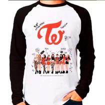 Camiseta Blusa Raglan Longa Kpop K-pop Twice Team Autógrafos - Eanime
