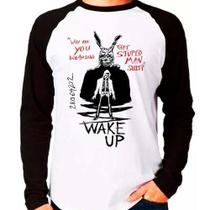 Camiseta Blusa Raglan Manga Longa Filme Donnie Darko Wake Up - Eanime