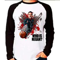 Camiseta Blusa Raglan The Walking Dead Twd Who Is Negan - Eanime