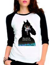 Camiseta Bojack Horseman Serie Netflix Raglan Babylook 3/4 - Eanime