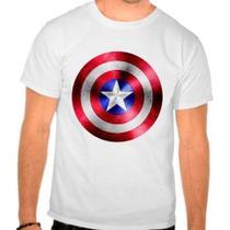 Camiseta Branca Capitão América Marvel Escudo - Eanime