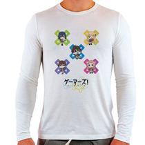 Camiseta Branca Longa Gamers Chibi Anime Otaku - Eanime