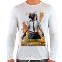 Camiseta Branca Longa Playerunknown's Battlegrounds - Eanime